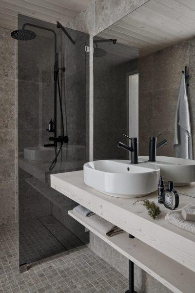 UniVillan kylpyhuonetiloja.